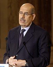Mohamed El Baradei, director general del OIEA. (Foto: AFP)