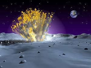 Recreación del impacto del meteorito sobre la Luna. (Foto: NASA)