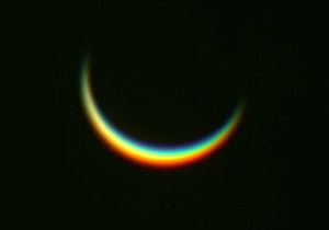 Una fotografía de Venus tomada el 3 de enero y publicada por el sitio web Spaceweather.com.