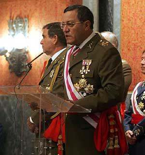 Mena Aguado, durante la lectura de su discurso. (Foto: Jesús Morón)