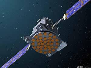 Ilustración del satélite 'Giove-A' en órbita. (Foto: ESA)
