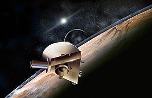 Recreación de la nave cerca de Plutón. (Foto: NASA)