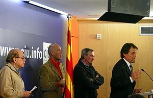 Jordi Pujol, Duran i Lleida, Xavier Trías y Artur Mas. (Foto: Santi Cogolludo)