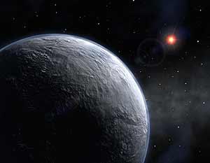 Impresión artística del nuevo planeta, que gira alrededor de una estrella enana roja. (Foto: EFE)