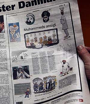 Página del semanario noruego Magazinet que reprodujo las viñetas. (Foto: AFP)