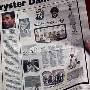 Página del 'Magazinet' noruego que reproducía las polémicas caricaturas de Mahoma. (Foto: REUTERS)