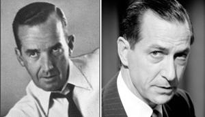 El verdadero Edward R. Murrow y su réplica en la película, David Strathairn