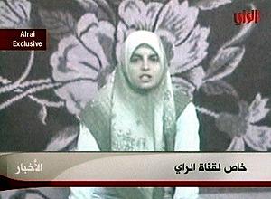 Imagen de la periodista en el último vídeo transmitido por la cadena 'Al Rai'. (Foto: AP)