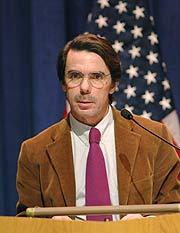 El ex presidente Aznar, en Georgetown. (Foto: EFE)