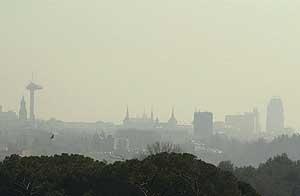 Imagen panorámica de Madrid tomada en 2001. (EL MUNDO)