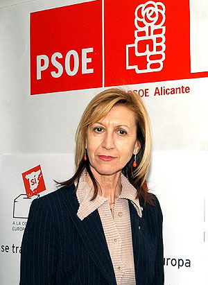 La eurodiputada socialista Rosa Díez. (E. CAPARRÓS)