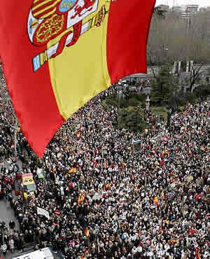 Vista de la manifestación. (Foto: AP)
