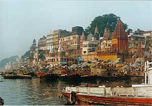 Vista de Varanasi.