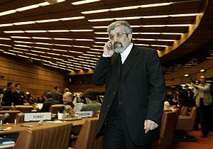 El embajador de Irán en el OIEA, Ali Asghar Soltanieh, el martes en Viena. (Foto: AP)