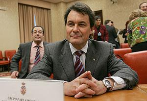 Artur Mas, en la Comisión Constitucional. (Foto: EFE)