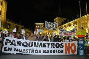 Imagen de la cabecera de la manifestación. (Foto: EFE)