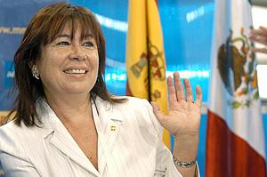 Cristina Narbona en el Foro del Agua en México. (Foto: EFE)