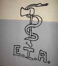 La pintada con el símbolo de ETA. (Foto: J. M. Bustamante)
