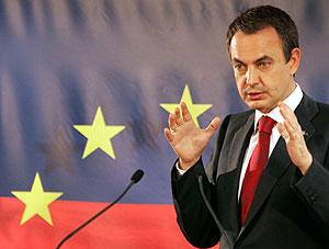 Zapatero, en Bruselas. (Foto: REUTERS)