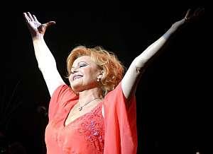 La cantante, en septiembre de 2003. (Foto: EFE)