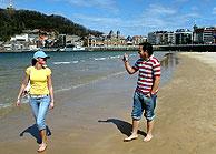 La playa de la Concha. (Foto: J. M. Bustamante)