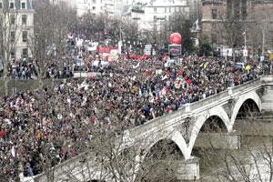 Manifestación en París. (Foto: AFP)