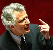 Dominique de Villepin en la Asamblea. (Foto: REUTERS)