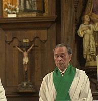 Antonio Beristain oficiando una misa en Bilbao. (Foto: Mitxi)