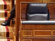 El sillón de Rodríguez Zapatero, vacío. (Foto: José Aymá)