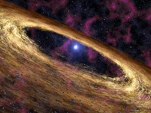 Una recreación artística del pulsar analizado por el telescopio 'Spitzer'. (Foto: AP)