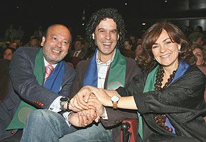 Manuel García Rondón, Pedro Zerolo y Carmen Calvo en la presentación del Instituto. (Foto: EFE)