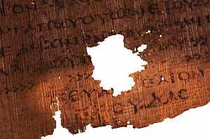 Una de las páginas del papiro. (Foto: National Geographic)