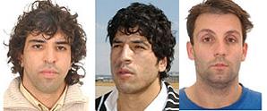 Jamal Zougam, Abdelmajid Bouchar y José Emilio Suárez Trashorras. (Foto: EFE)