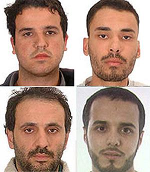 Basel Ghalyoun, Fouad El Morabit, Mouhannad Almallah y Mohamed Larbi Ben Sellam. (Foto: EFE)