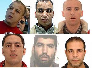 Rafa Zouhier, Otman El Ghanoui, Abdelilah El Fadual, Rachid Aglif, Saed El Harrak y Nasreddine Bouabaa. (Foto: EFE)