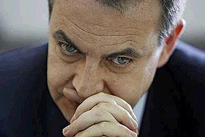Zapatero, durante la entrevista de EL MUNDO. Vea más fotos. (Foto: José Aymá)