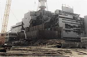 El reactor de Chernóbil, cuatro meses después del accidente. (Foto: AFP)
