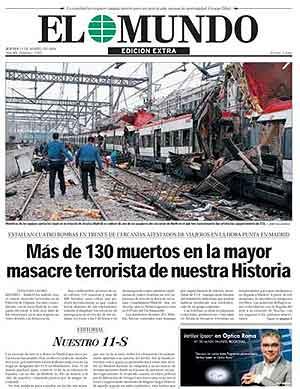 La portada de EL MUNDO, el día después