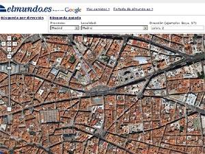 Imagen de satélite del centro de Madrid. (Foto: EL MUNDO)