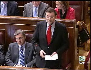 Imagen de Rajoy intercalada en el vídeo sobre torturas en la cárcel iraquí de Abu Ghraib