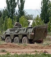 Vehículo blindado del tipo BMR, similar al accidentado. (Foto: EFE)