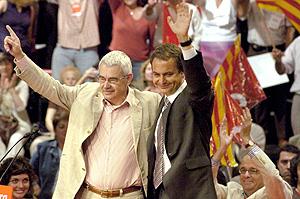 Paqual Maragall con Zapatero. (Foto: EFE)