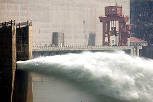 Parte del dique, en una foto tomada esta semana. (Foto: AP)