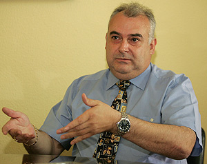 Antonio Moreno Carpio, durante la entrevista a EL MUNDO. (Foto: B. PAJARES)