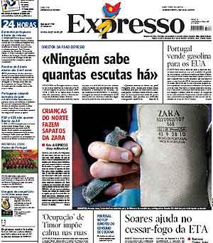 Portada del semanario 'Expresso'.