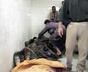 La morgue de Haditha. (Foto: REUTERS)