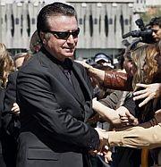 Ortega Cano, a su llegada a la capilla ardiente. (Foto: EFE)