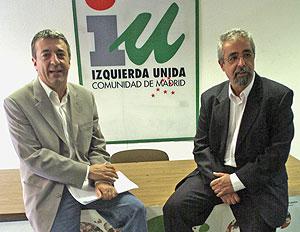 Gregorio Gordo (izquierda) y Ángel Pérez. (Foto: CARLOS MIRALLES)