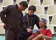 Rafa, junto a su tío y entrenador, Toni Nadal. (Foto: ATP)