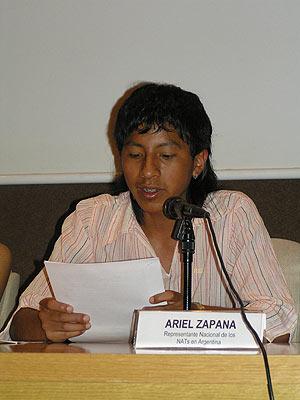 Ariel, un niño trabajador y representante del movimiento argentino de menores trabajadores. (Foto: STCH)